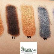 libellula bio couleur caramel swatches ombretti bio 99 81 46 49 55
