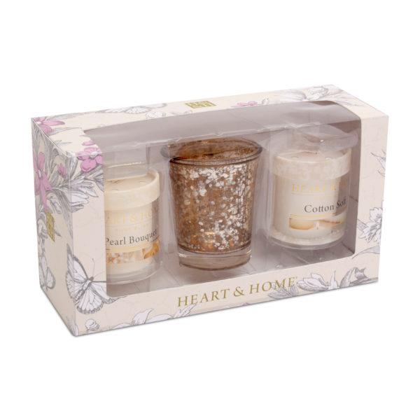libellulabio heart&home giftset cottonsoft+pearlbouquet