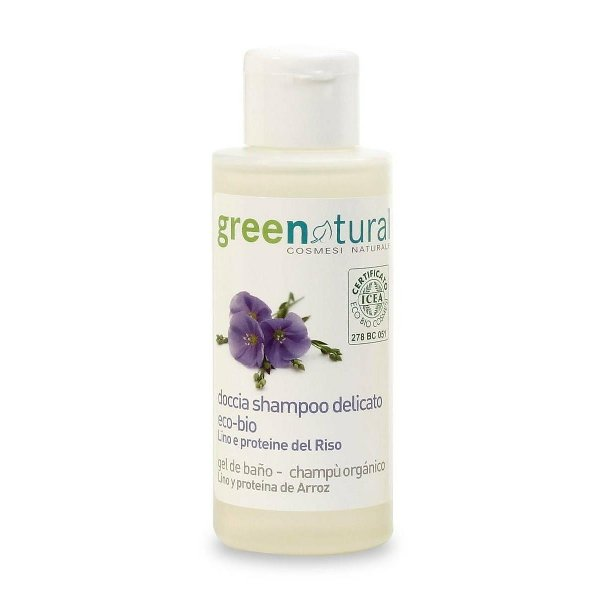 libellulabio doccia-shampoo-lino-riso-greenatural mini