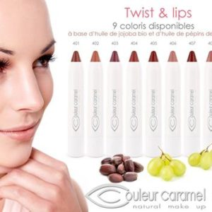 libellula bio couleur caramel twist and lips