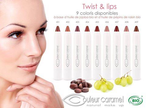 libellula bio couleur caramel twist and lips