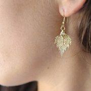libellulabio esterbijoux betulla orecchini oro giallo