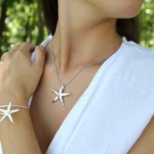 libellulabio esterbijoux stella marina argento parure