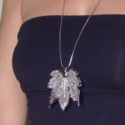 libellulabio esterbijoux acerofullmoon argento ciondolo lungo
