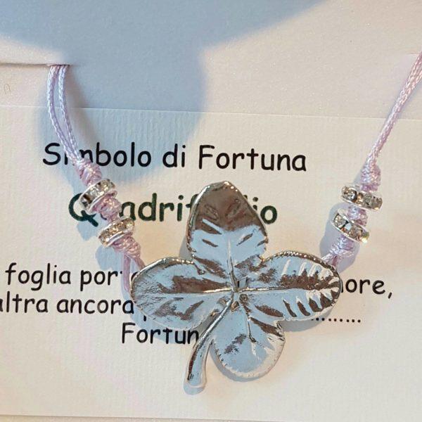 libellulabio-esterbijoux-bracciale-cordino-quadrifoglio-argento