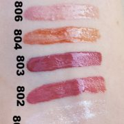 libellulabio miss w gloss swatches