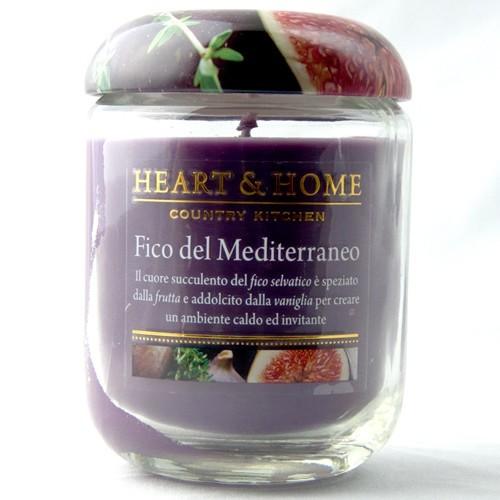 libellulabio heart home fico del mediterraneo candela cera di soia 340 gr