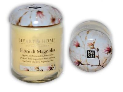 Heart Home Candele.Heart Home Fiore Di Magnolia Libellulabio Bio Profumeria